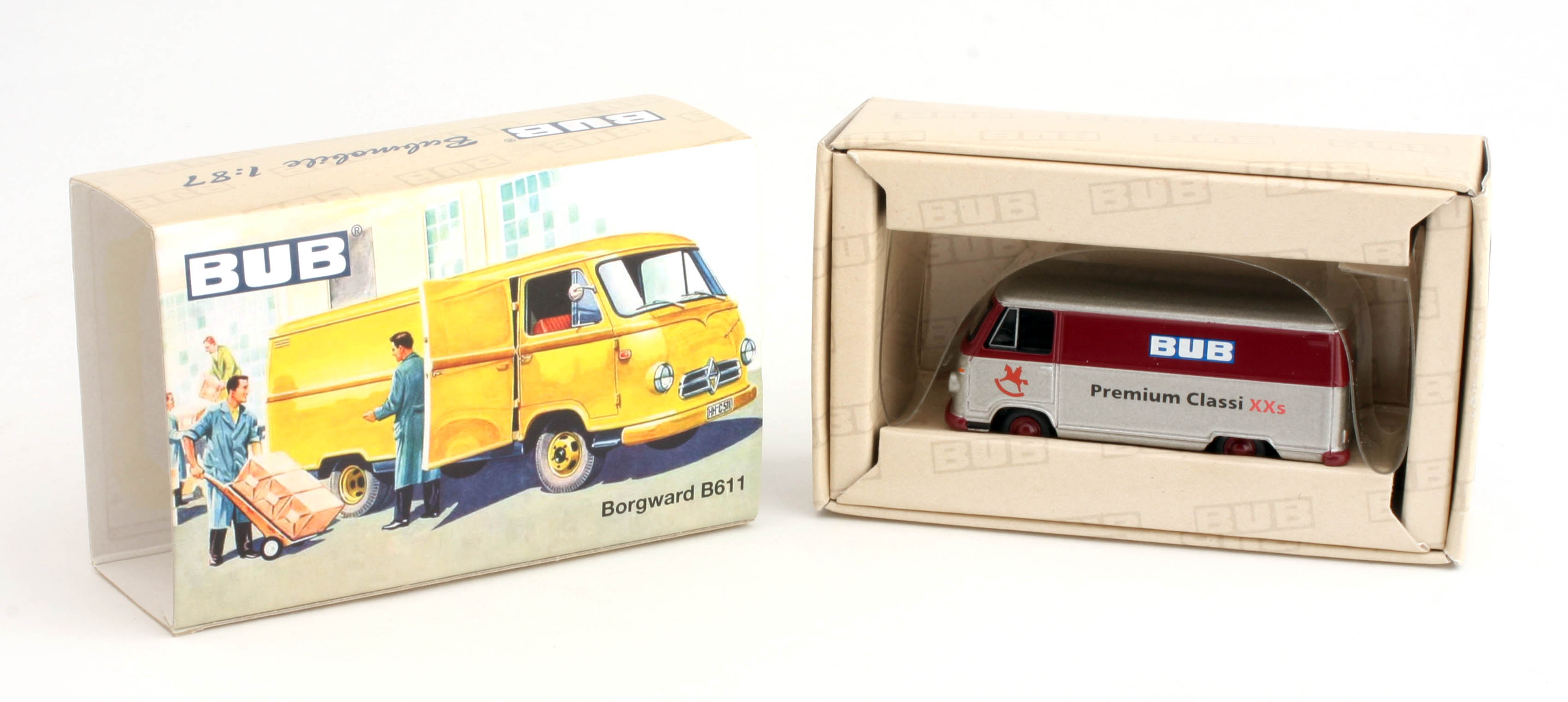 1.87 Bub Diecast Model Car - B611 - Borward Delivery Van - 2012 Germany Toyfair - Promo Model