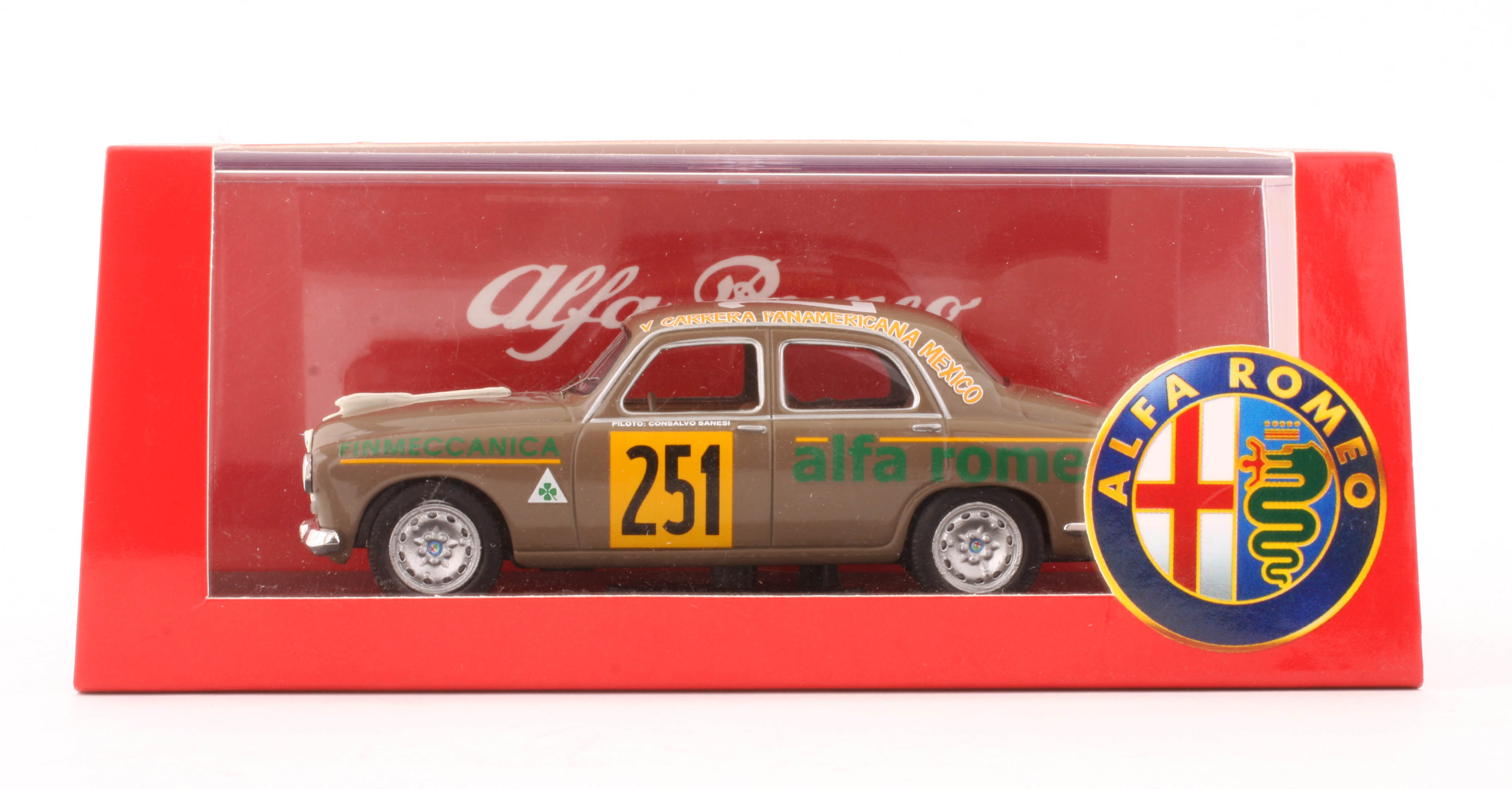 1:43 M4 – Alfa Romeo 1900 – 1954 Carrera Messicana – Sanesi-Cania Diecast Model Car