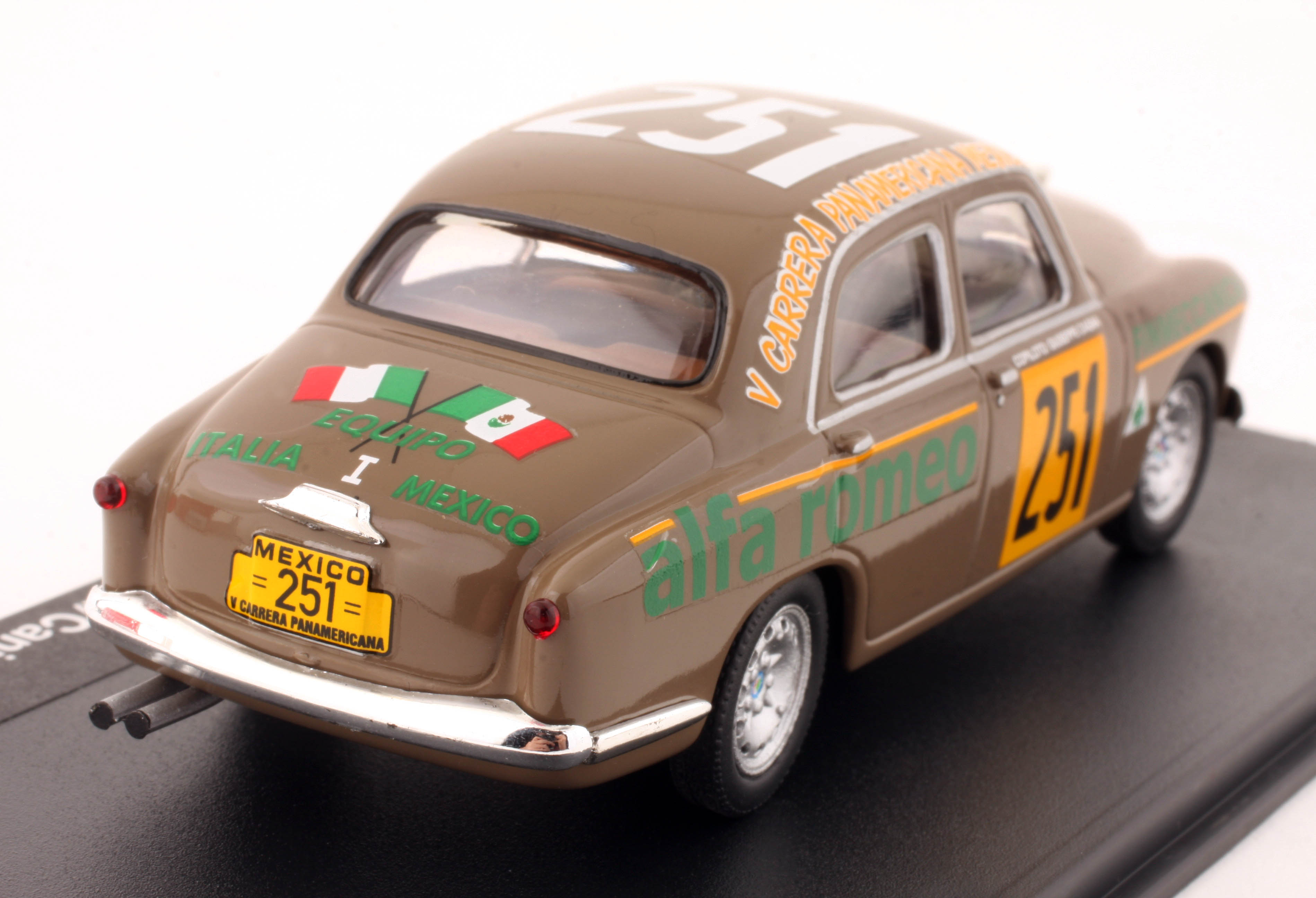 1:43 M4 - Alfa Romeo 1900 - 1954 Carrera Messicana - Sanesi-Cania Diecast Model Car