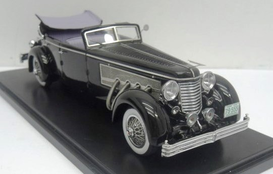 Pre-Order – 1.43 ESVAL – 1937 Duesenberg SJ Town Car Chassis 2405 by Rollson for Mr. Rudolf Bauer 'Fully Open resin model car