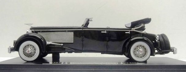 Pre-Order - 1.43 ESVAL - 1937 Duesenberg SJ Town Car Chassis 2405 by Rollson for Mr. Rudolf Bauer 'Fully Open resin model car