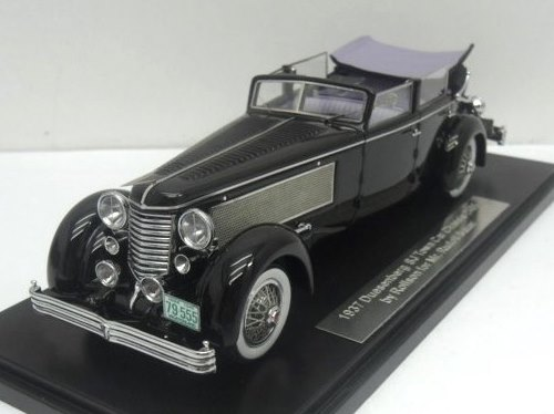 Pre-Order - 1.43 ESVAL - 1937 Duesenberg SJ Town Car Chassis 2405 by Rollson for Mr. Rudolf Bauer 'Windows up, Open'