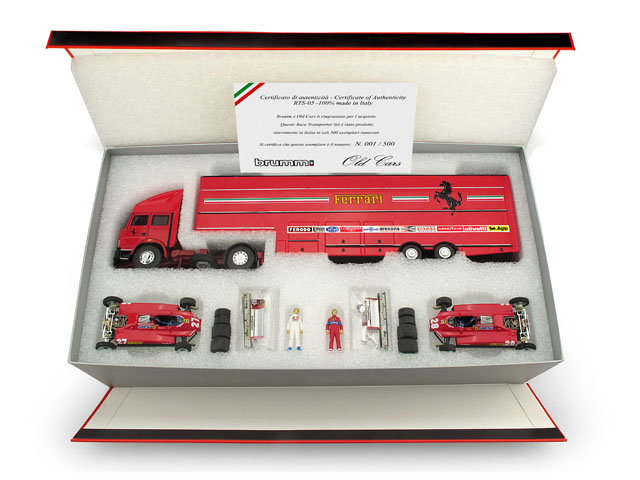 RTS05 Brumm 1:43 scale Race Transporter Set 5 Ferrari