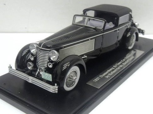 1:43 ESVAL  Duesenberg SJ Town Car Chassis 2405 by Rollson for Mr. Rudolf Bauer 'ONLY BACK CLOSED'