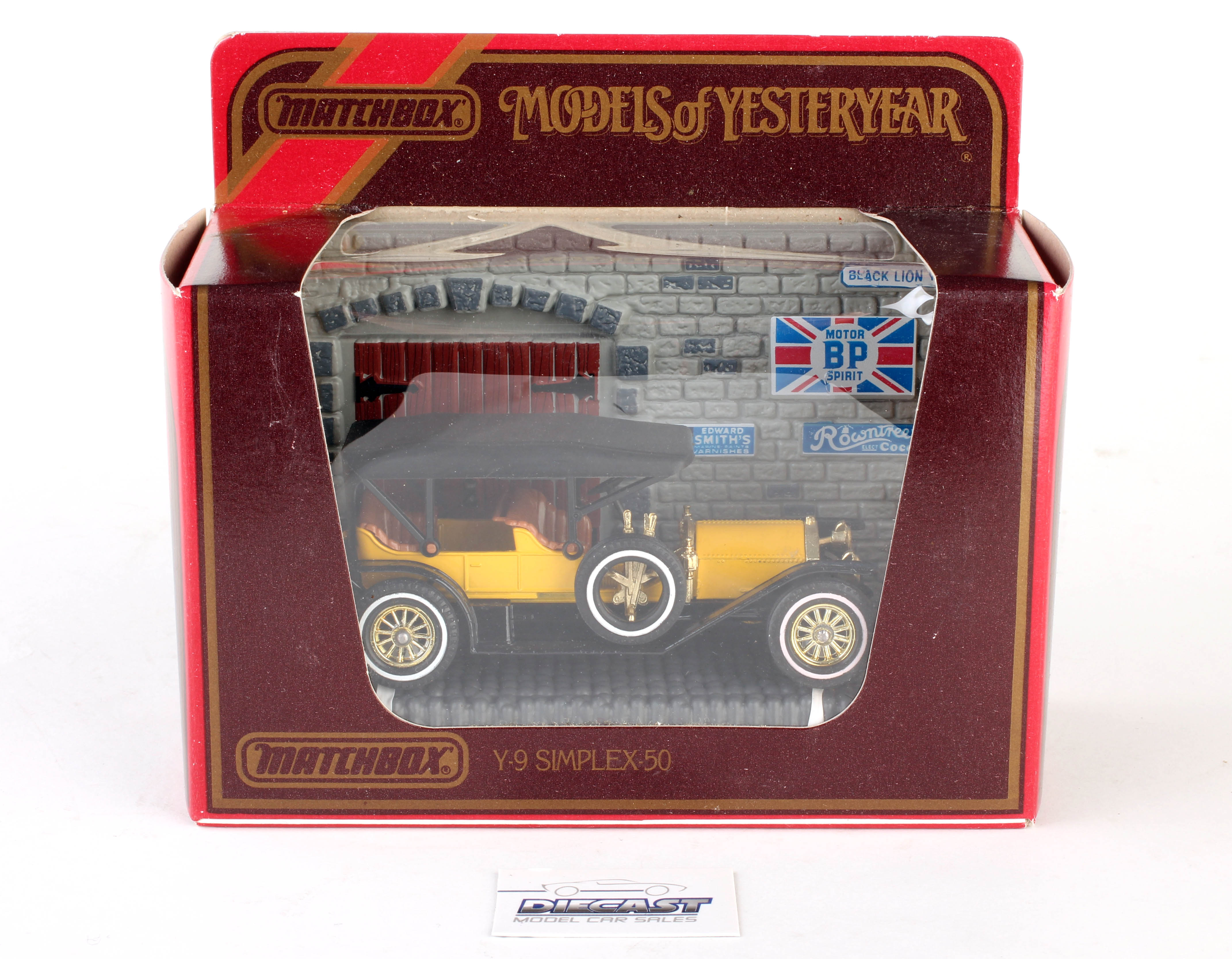 Matchbox 1:48 Models of Yesteryear 1912 Simplex-50 (Yellow and Black) - Y-9