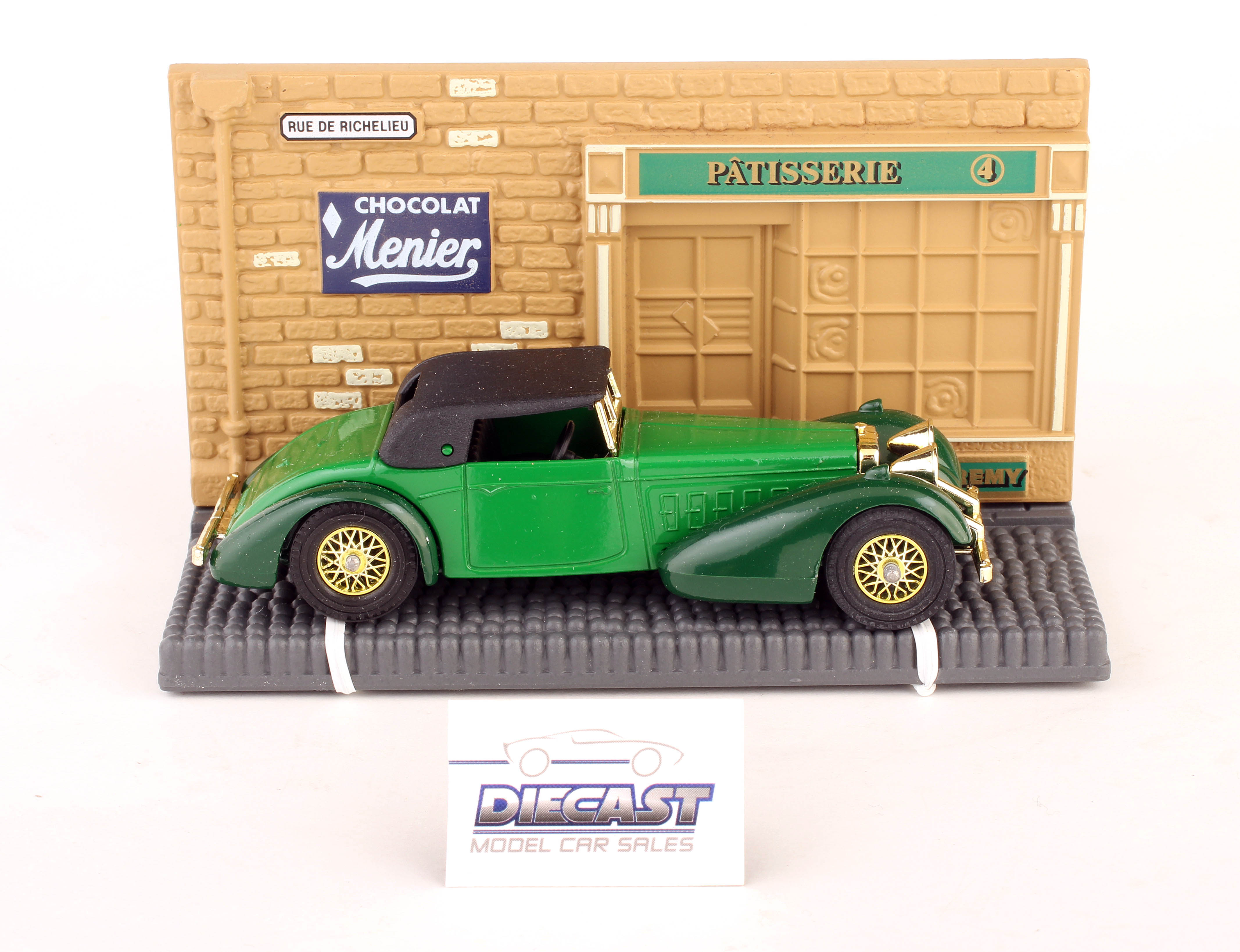 RARE Matchbox 1:48 Models of Yesteryear 1938 Hispano Suiza (Green) - Y-17