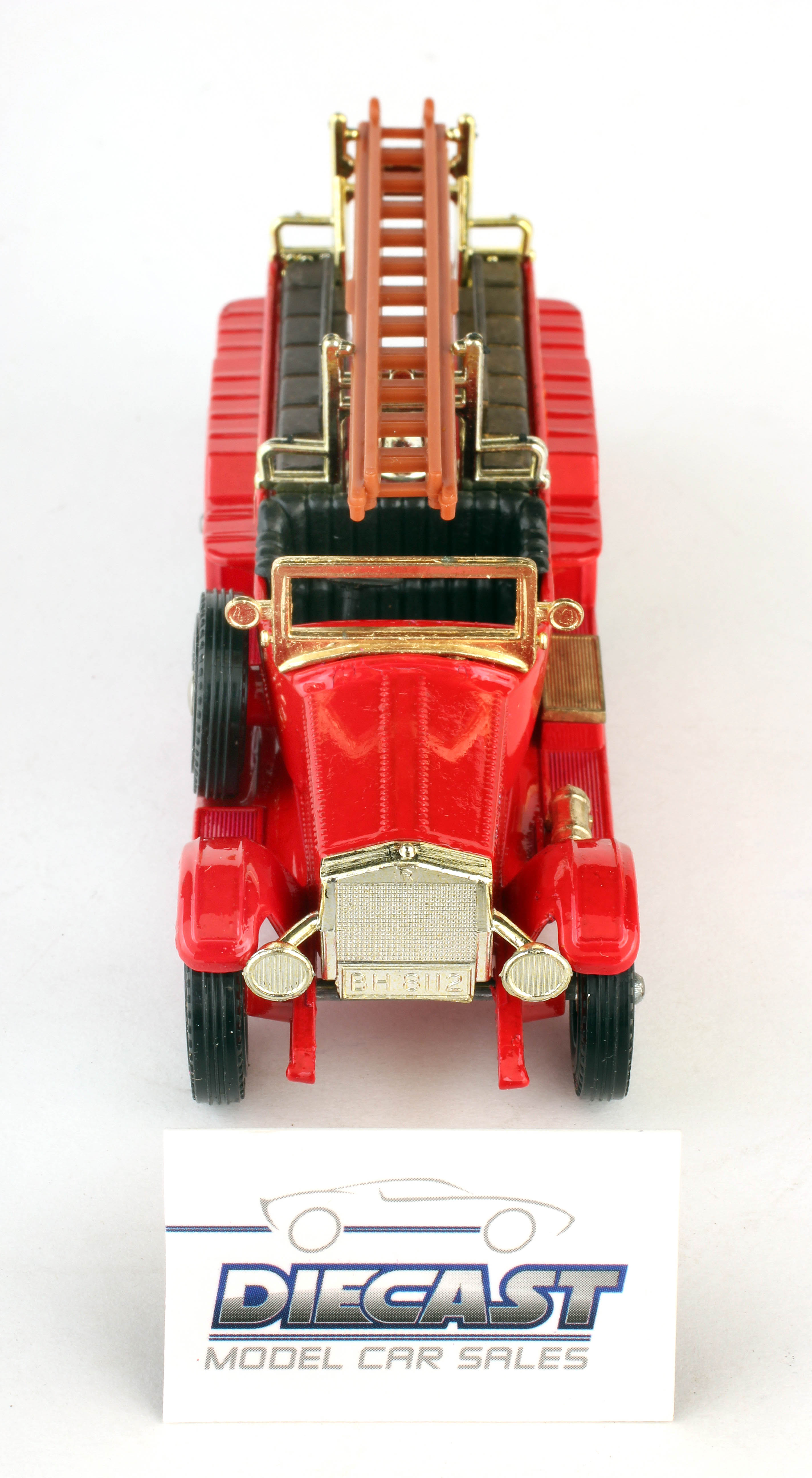 Matchbox 1:48 Models of Yesteryear 1920 Rolls Royce (Red with Gold Trim) (Brown Ladder) - Y-6