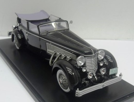 Pre-Order – 1.43 ESVAL – 1937 Duesenberg SJ Town Car Chassis 2405 by Rollson for Mr. Rudolf Bauer 'Windows up, Open'